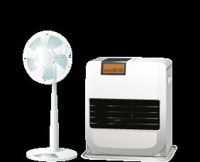 シーズンオフの冷暖房器具