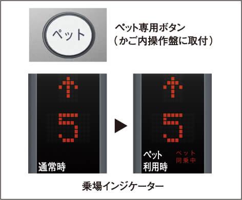 ペット対応<br>エレベーターシステム